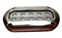 ULTRA BRIGHT WHITE LED STAINLESS STEEL UNDERWATER LIGHT SURFACE MOUNT