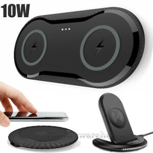 QI Wireless Phone + DUAL Charger For Samsung Duo Dock Dual Fast Charging Smart