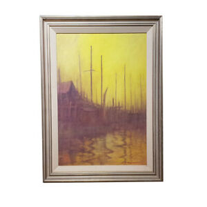 REX BACKHAUS-SMITH (1935-) PAINTING - WATERCOLOUR ON CANVAS #53985