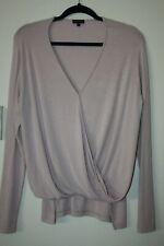 SEN Pink Sleeve Top OS Draped Long Sleeve Modal Shirt Dusty Rose Pale Pink GUC