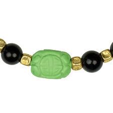 Kette Collier  Design Onyx Schmuck Necklace Gold Ethno Schwarz Black Barockperle