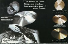 2000 small Print Ad of Istanbul Agop Mel Lewis Signature Series Drum Cymbals