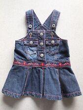 'PUMPKIN PATCH' BABY GIRL DENIM PINAFORE DRESS SIZE 000 FITS 0-3M