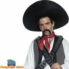 Authentic Mexican Bandit Sombrero Adult Mens Smiffys Fancy Dress Costume Hat