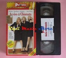 film VHS cartonata AVVISO DI CHIAMATA M. Ryan D. Keaton PANORAMA  (F39) no dvd