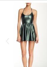 American Apparel Halter Skater Mini Dress Green Sz XS NWT MSRP $68 Party Dress