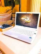 WHITE SONY VAIO GAMING LAPTOP i3 @2.13GHz 8GB RAM 128GB SSD W10PRO NVIDIA GFX