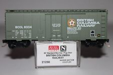 N Scale MTL 21230 British Columbia Railway 40' Single Plug Door Boxcar 8004