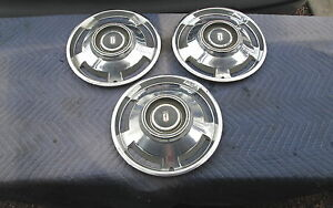 """Vintage 1963 Chevy ll Chevrolet 13"""" Hubcaps,Hub Cap Wheel Covers Good Condition"""