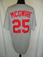 Majestic Mark McGwire Jersey Large Vintage Gray St Louis Cardinals MLB