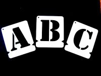 ALPHABET STENCILS, LETTER STENCIL A-Z & 0-9- Stencil Font /Army * Incl. free &*