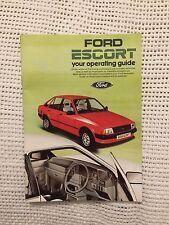 Classic Ford Escort Operating Guide Handbook Owners Manual Mk3 Series 1 1600i