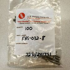 100 Pack FHS-032-8, Self-Clinching Threaded Studs - Type FH/FHS/FHA - Unified