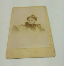ANTIQUE 1890 CARTE DE VISITE CDV VICTORIAN WOMAN FROM MARIANNE GAILLARD ESTATE