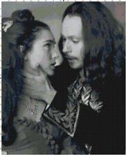 Dracula Winona Ryder & Gary Oldman Black & White Counted Cross Stitch Pattern
