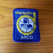 ARCO Chemical Company Distribution Patch Vintage Worn Blue Yellow White Oil
