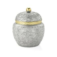 Royal Selangor Straits Expression Collection Pewter Peony Tea Caddy Gift