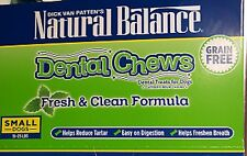 (10) NATURAL BALANCE DENTAL CHEWS SMALL DOGS 15-25 LBS FRESH & CLEAN NEW NIP
