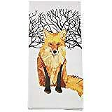 Paperproducts Design Kitchen Towel Featuring Winter Fox Design, Multicolor