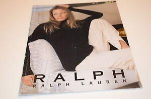 1999 Ralph Lauren Polo Fashion Clothing Collection Type Specimen Catalog Moss