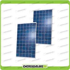 Set 2 x Pannelli Solari Fotovoltaico 250W Europeo 24V tot. 500W Casa Baita Stand
