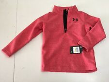 New! Under Armor Boys Athlets Pull Over Half Zip Fleece Size 4