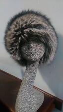 Natural Silver Fox Fur Skin Hat - Real Fur