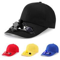 Men Sport Solar Powered Fan Cap Cooling Baseball Hat Outdoor Sun Visor Cap