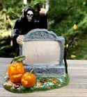 Vintage Retired 2002 Dept 56 Halloween Accessories Village Sign Grim Reaper Boo