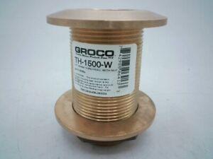 "Groco TH-1500-W 1-1/2"" NPS NPT Combo Bronze Thru-Hull Fitting w/ Nut - New"