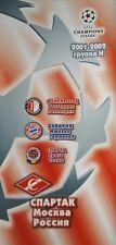 Programm UCL 2001/02 Spartak Moscow vs Bayern Munich Feyenoord Sparta Praha
