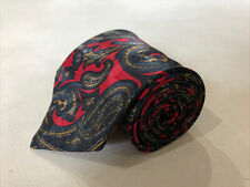 Christian Dior Men's Multicolor Paisley Polyester Neck Tie $138