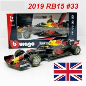 Bburago 2019 1:43 F1 Race Red Bull RB15 #33 Max Verstappen Diecast Model Car`