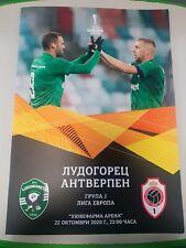 Off. Programm Stadionheft Ludogorets Razgrad vs Royal Antwerp FC UEFA EL 2020/21