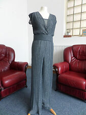 PER UNA M&S Classy Grey Sparkling Evening Jumpsuit/All in One Oufit SIZE 12