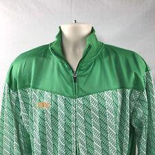 Umbro Soccer Track Jacket Ireland Zip Up L with Pockets Green White Orange