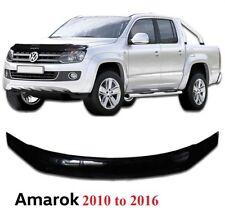 VW AMAROK 2010-16 BONNET GUARD PROTECTOR BUG SHIELD BLACK **UK SELLER - HS007