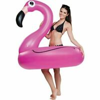 LARGE INFLATABLE FLAMINGO POOL FLOAT RING RAFT SWIMMING WATER PINK 47 INCH 1.2M