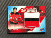 2019-20 UPPER DECK ICE JACK HUGHES ROOKIE RELIC JUMBOS JERSEY PATCH #ed 15/15