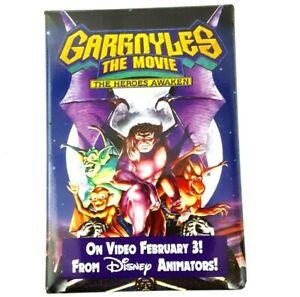 Vintage 1995 Gargoyles The Movie Pin Button Disney Rectangle 3 x 2 inches