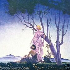 2 Vintage Original 1920s MAXFIELD PARRISH STYLE Art Deco Print NOS Unused