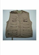 Gilet  reporter multipoches Beige T.XL