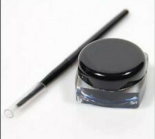 NEW pro Waterproof Eye Liner Eyeliner Shadow Gel Makeup Cosmetic + Brush Black