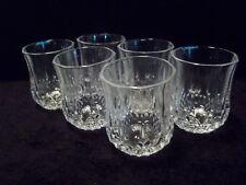 "Cristal d' Arques ""LONGCHAMP""  2-1/4"" SHOT GLASSES (2 OZ) - Set of (6)"