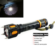 3000LM CREE T6 LED Tactical Self-defense Alarm Flashlight Torch 18650 Battery