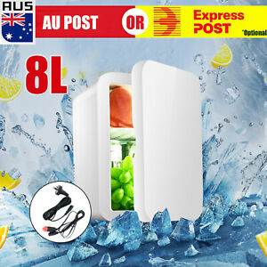 8L 2 in1 Home Car Mini Portable Fridge Small Drinks Beer Cooler Bar Freezer AU J