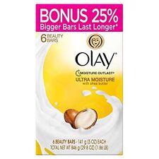 6ct Olay Ultra Moisture Beauty Soap Bars Shea Butter Moisture Outlasts 5oz
