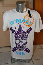 T-shirt ecologia now bianco ED HARDY audigier T L NUOVO CON ETICHETTA val