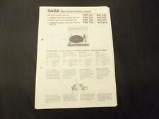 Original Service Manual Saba PSP 155 750 180 780