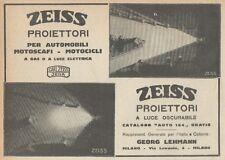 Z1907 Proiettori per moto ZEISS - Pubblicità d'epoca - 1921 Old advertising